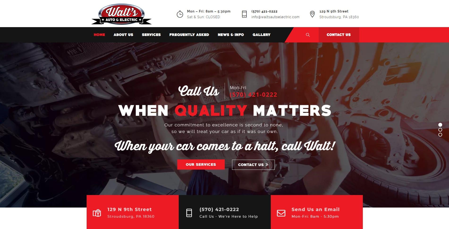 Walt's Auto & Electric - Stroudsburg, PA